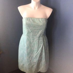 Vineyard Vines size 16 strapless seashell dress